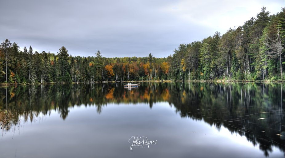I capture I took in the Fall of 2018 of a small lake just 10 minutes drive from Deep River, Ontar...