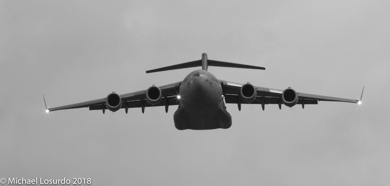 C-17 flyover at the Charlotte Nascar Race