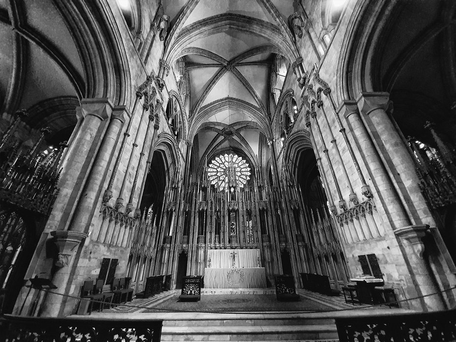 BW  images from the inside of Durham Cathedral