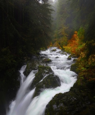#2766 Washington state waterfall. St comp.