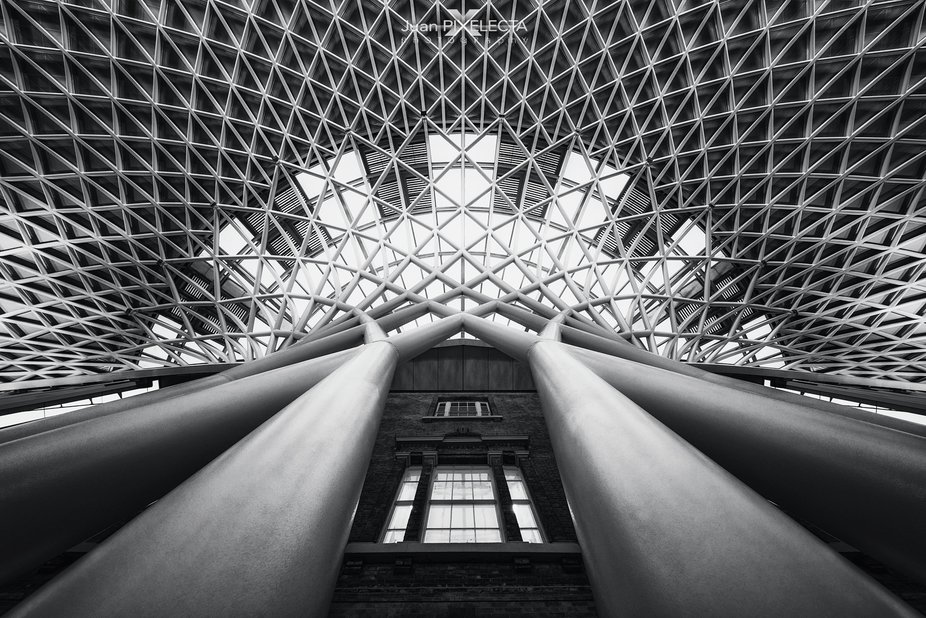 Lying on the ground with an 11mm + Mark IV from Canon. King's Cross Station  .  See more...