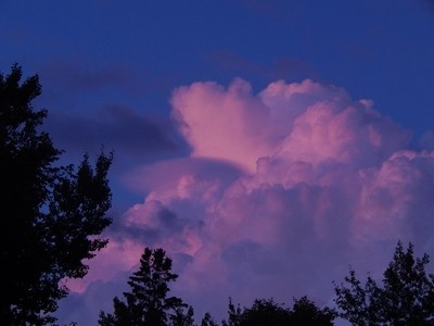 Here is my shot of the beautiful sky this evening.