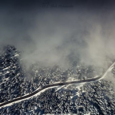 The snow was short-lived. Last weekend, I used that last chance with my MavicPro. To let off steam for a while. The fog was again extremely fast and therefore the time was very limited in the air.
