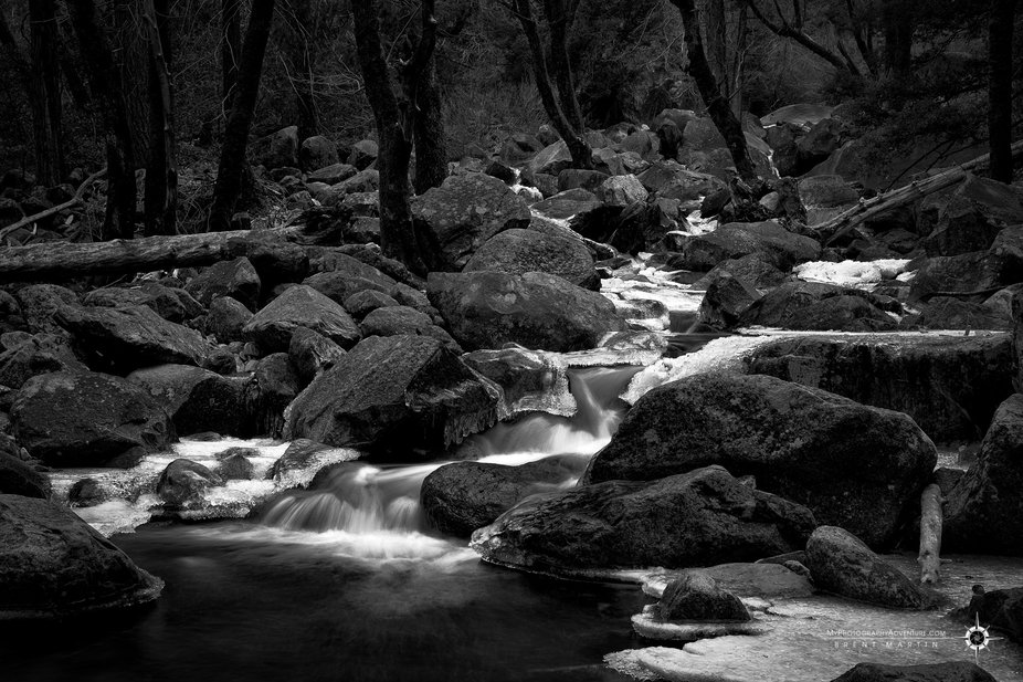 Just a small portion of a stream in Yosemite, along side a trail to a waterfall. I had more fun s...