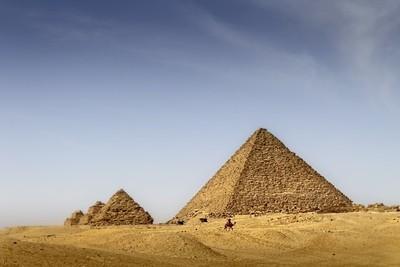 The Piramids of Giza El Kairo.