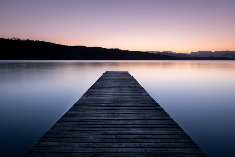 Classic sunset shot from a jetty on Lake Windemere