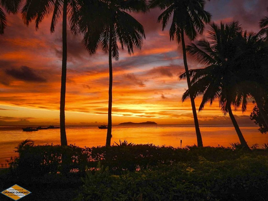 Beqa Island, Fiji, 2014    The sunsets in Fiji were incredible!  Every night a burst of color as ...