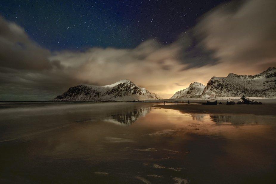 Skagsanden beach , Lofoten Islands , Norway