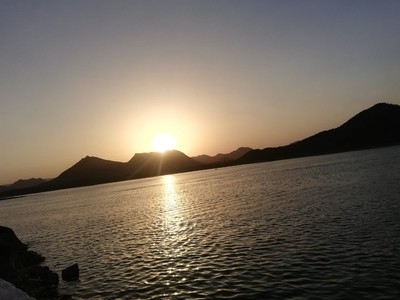 Sunset at udaipur