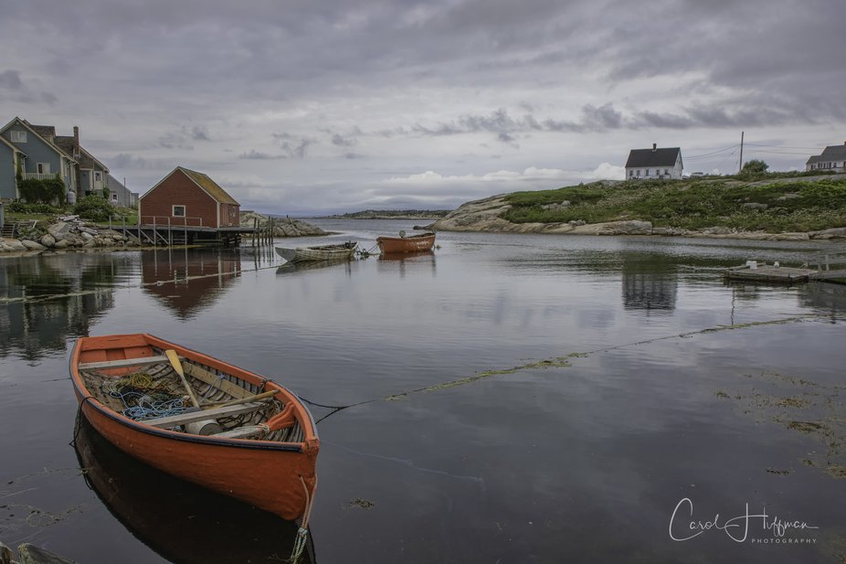 Classic scene from Peggy's Cove, Nova Scotia.  Hope to get back there again this year.