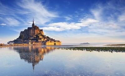 Mont St Michel Dawn, Normandy