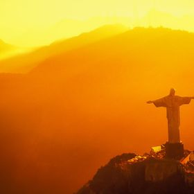 High above Rio De Janeiro is Cristo. Getting the helicopter to this angle at this time was the biggest challenge.