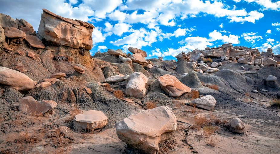 The Bisti Badlands are an amazing geographic experience.
