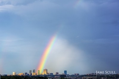 Fort Worth, Texas at the end of the Rainbow