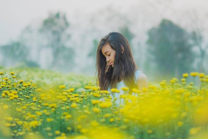 A girl in flower garden by iiiNooMiii - Image Of The Month Photo Contest Vol 44