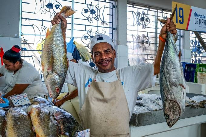 Fish-market Panama CIty, march 2019