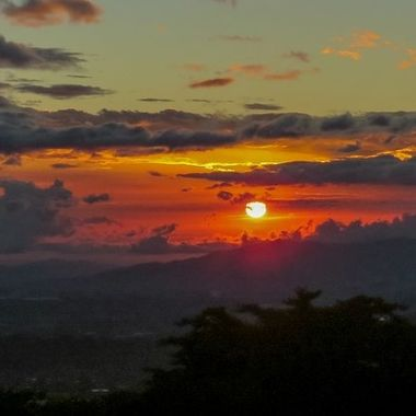 Sunset over the central valley in Costa Rica IMG_4733
