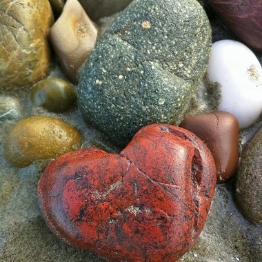 Love found on a beach while rock hunting.