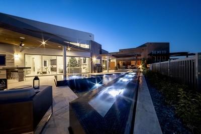 Blue hour pool
