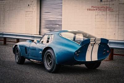 1964 Shelby Cobra Daytona Coupe CSX2287 Goodyear Blue Streak Tires (0103) Simeone Foundation Automotive Museum Philadelphia, PA 4-13-2019.