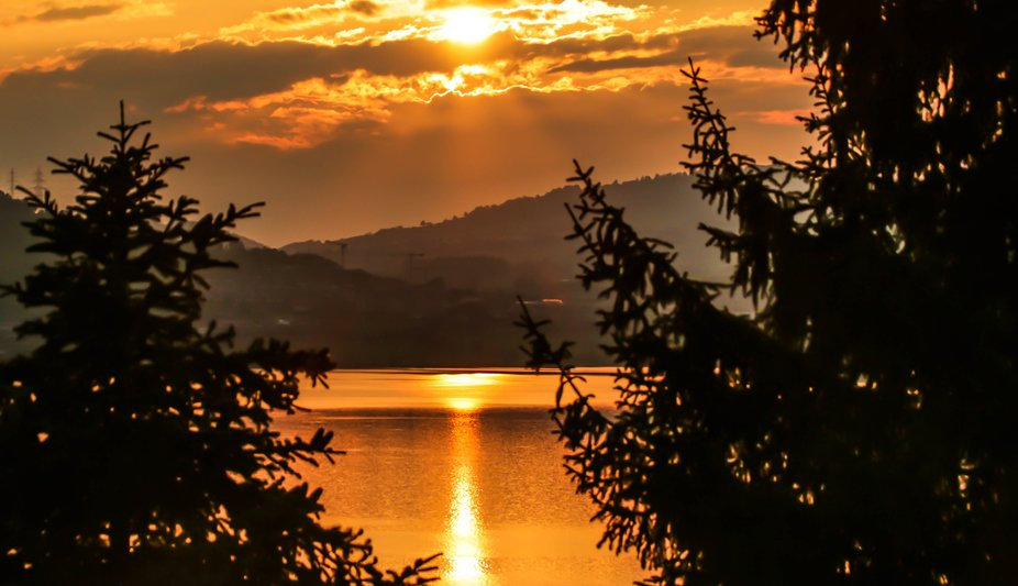 I was on my balcony overlooking the Reuss River in Lucerne as the sun was setting.  One of my fav...
