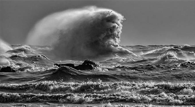 Face in the Waves by Katnott - Celebrating Earth Day Photo Contest 2019