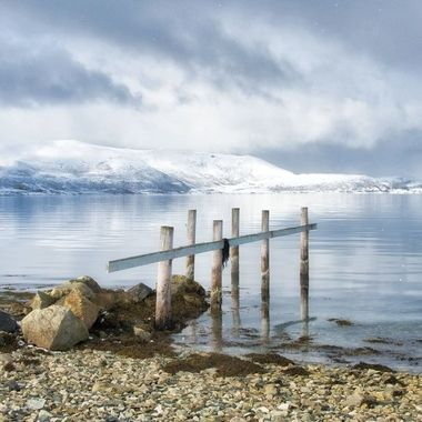 The coast of Troms, Northern Norway.