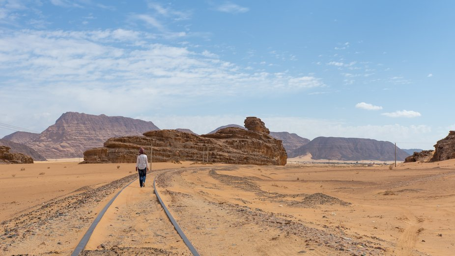 We were looking for the Lawrence of Arabia's abandoned railroad scene in Jordan. I don&a...
