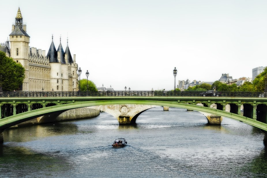 """I took this photograph from one of the many bridges to the Ile de la Cite (literally """"Is..."""