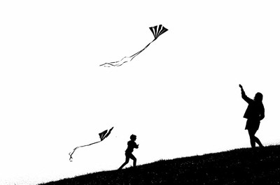 Kite flying Silhouette
