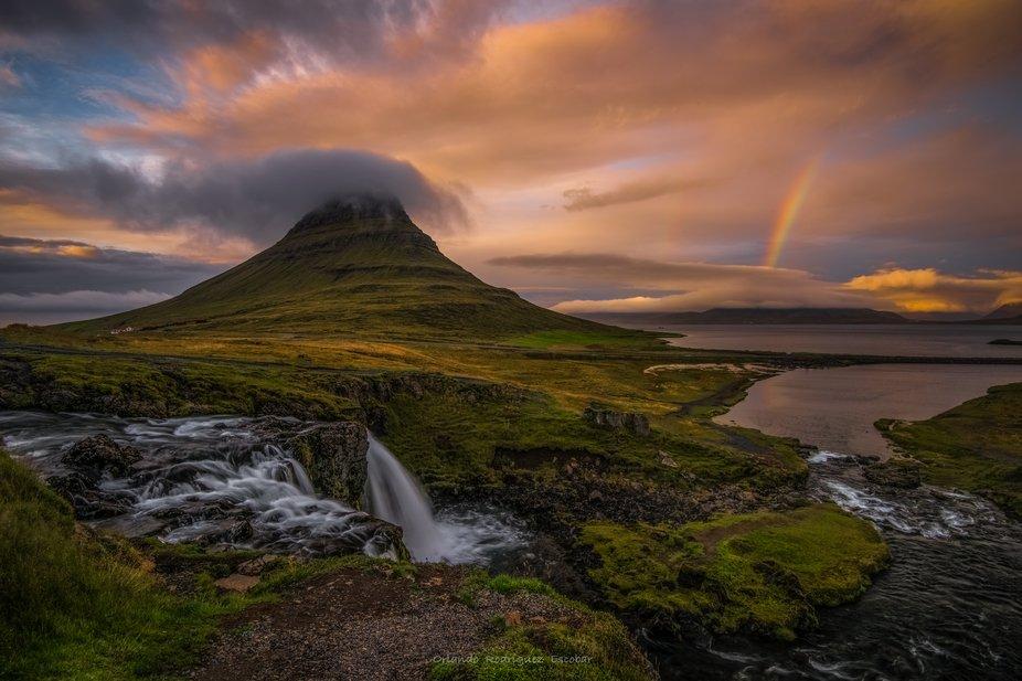Sunset at Mount Kirkjufell, Iceland