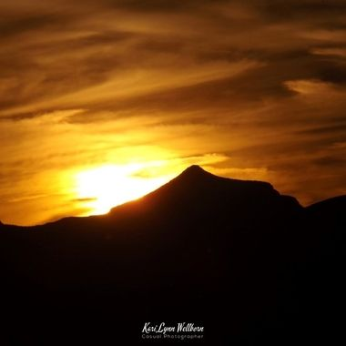 sunset over Ash Peak