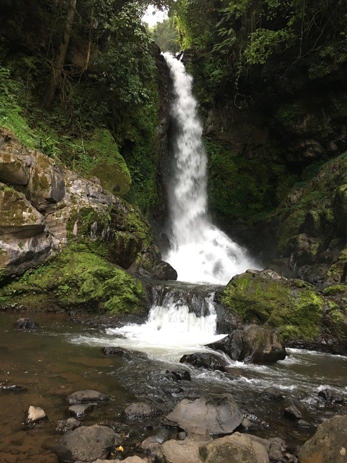The big waterfall in Kilimanjaro region located in Tanzania.