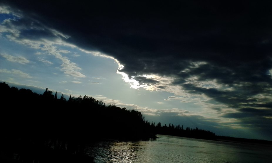 A lovely evening shot.  One of my favorite photos.  This is taken in Round Lake a.k.a. Weagamow L...