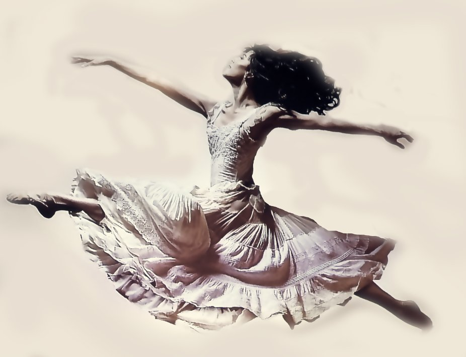 a beautiful energetic dancer. edited with ON1 filters