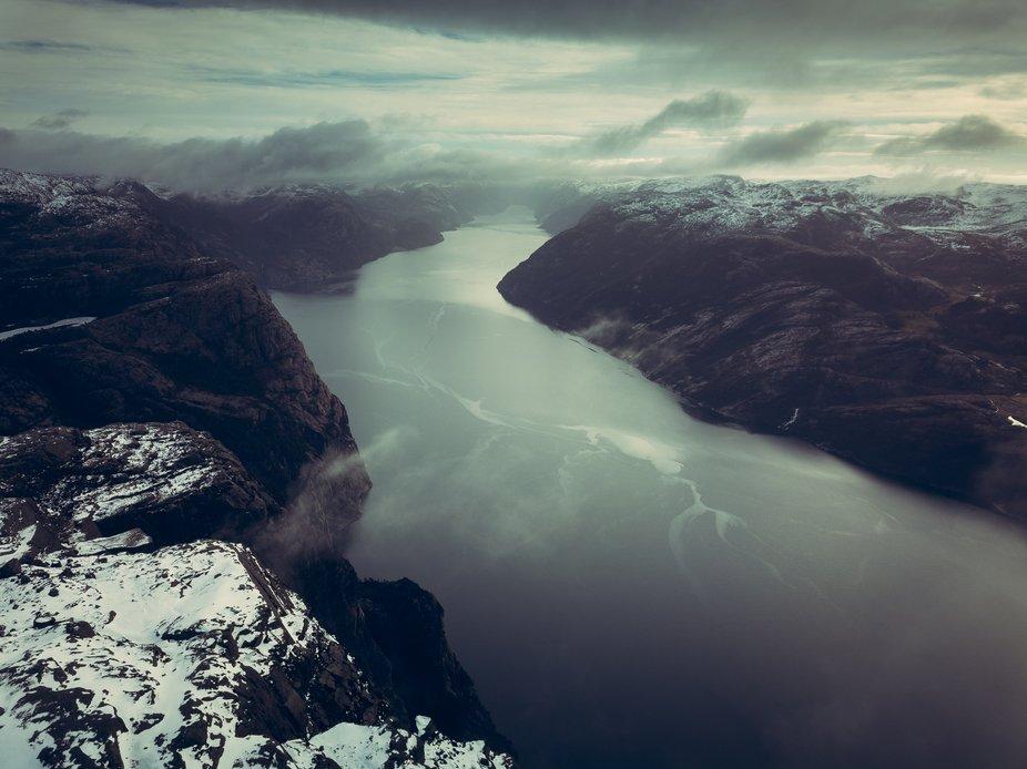 Morning shot of Norway Fjord