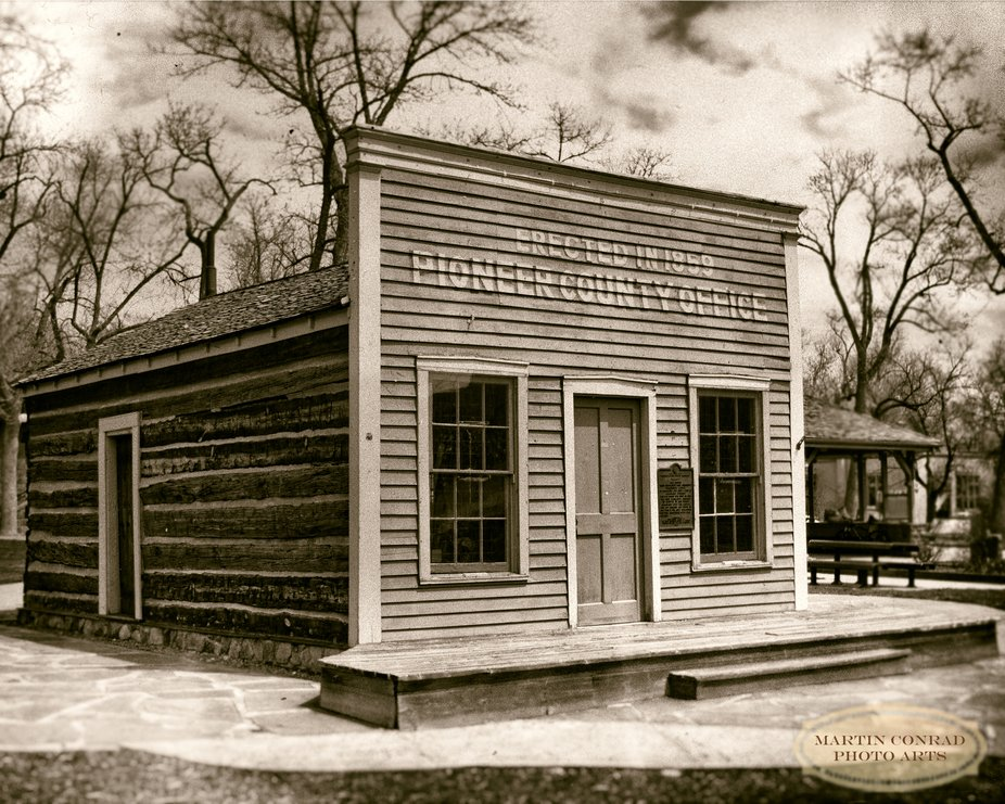 Original El Paso County office, built 1859