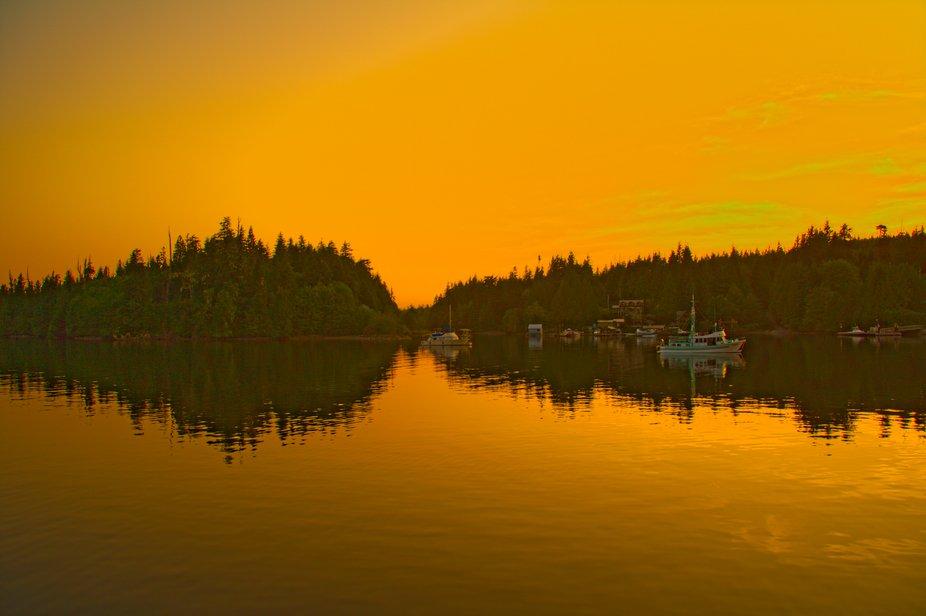 Bamfield Sunset Boat