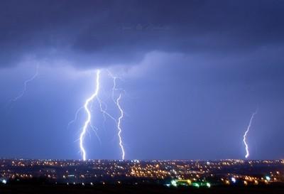 Thunderstorm over limassol Cyprus