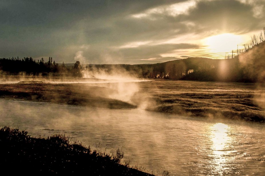 One of the truly  natural places in the USA, Yellowstone N.P.