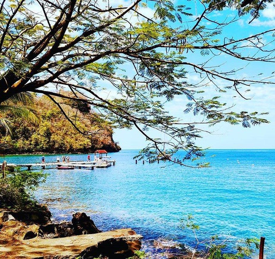 Wallilabou Bay in St. Vincent.  Hier wurde der erste Teil von Fluch der Karibik gedreht