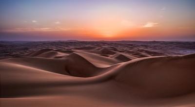 Blue hour in the desert