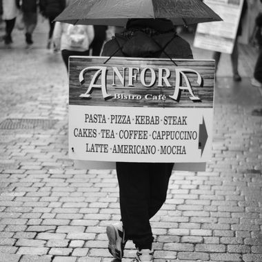 Human Shop Sign