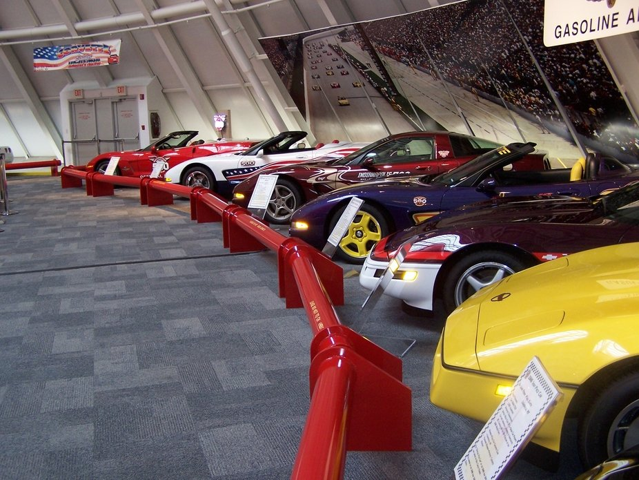 At the Corvette Museum, Bowling Green KY, before the sink hole opened beneath it.