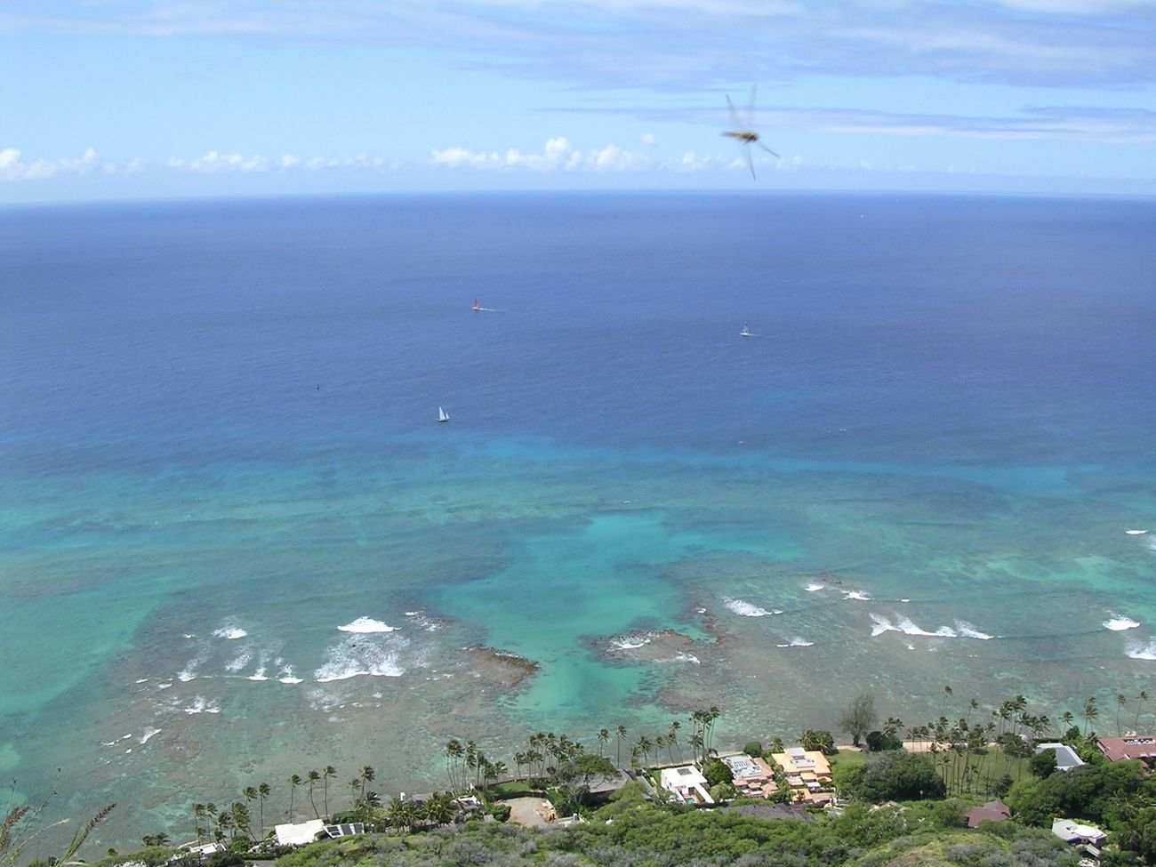 View of the Pacific from Diamond Head