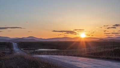 Sunset near Ninepipes