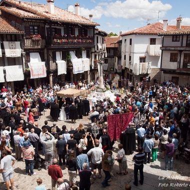 Fiesta del Corpus Christi en La Alberca (Salamanca-Spain),mi pueblo, de la Sierra de Francia, de estructura medieval. Declarado Primer Conjunto Historico Artistico de España.