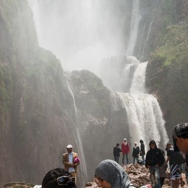 En el Atlas Marroqui. Espectaculo Natural muy visitado por los propios Marroquies.