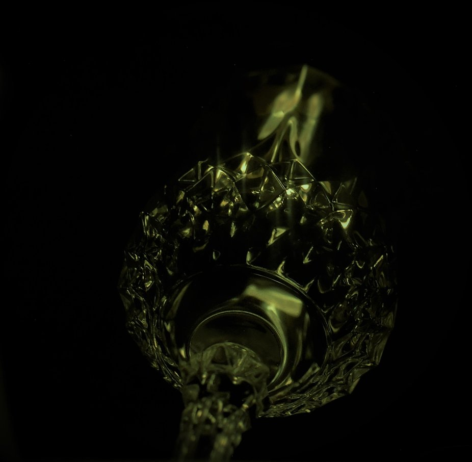 Took a crystal wine glass and flashlight and had a ton of fun creating:-)