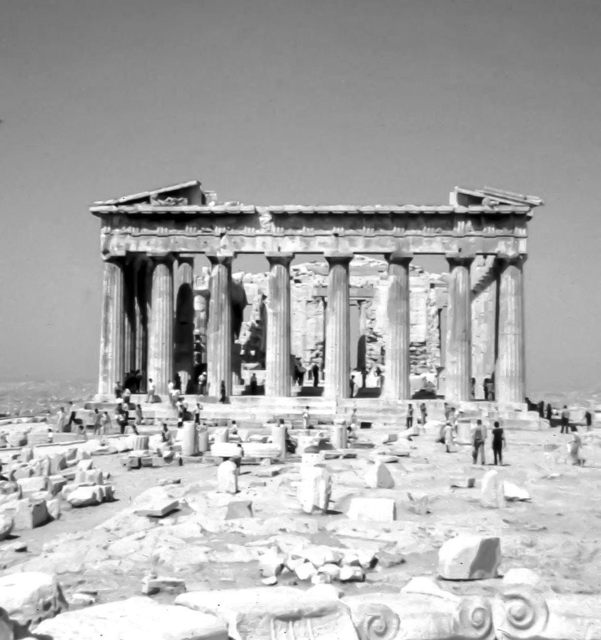 The back of the Parthenon-